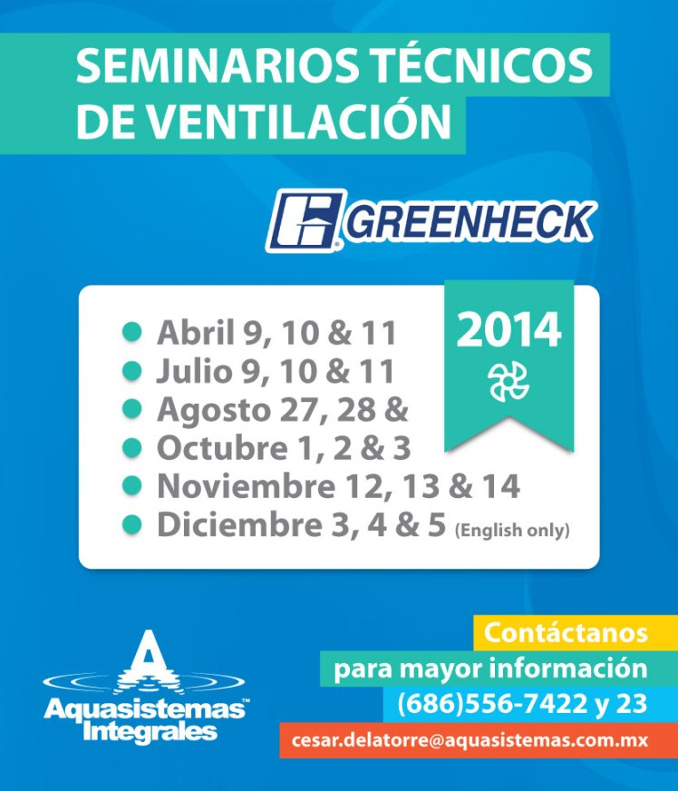 AQS Greenheck - Flyer Seminarios
