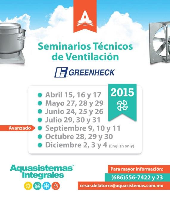 AQS Greenheck - Flyer Seminarios 2015