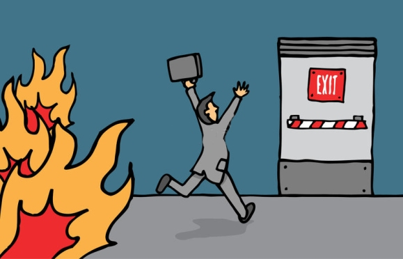 businessman-heading-emergency-exit-fire-30561460